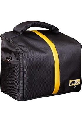 SaRa Nikon DSLR Fotoğraf Makinesi Set Çanta Kare Çanta
