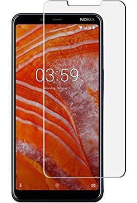 Case 4U Nokia 3.1 Plus Cam Ekran Koruyucu Temperli Şeffaf