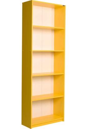 Adore Modern 5 Raflı Kitaplık - Sarı