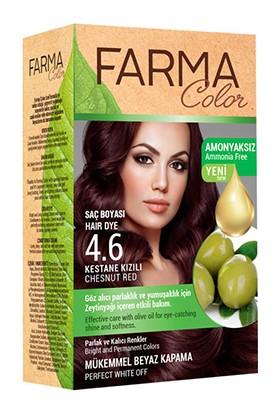 Farmasi Farma Color Saç Boyası 4.6 Kestane Kızılı