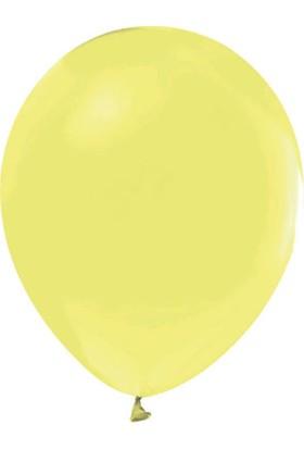 Balonevi Sarı Pastel Makaron Balon 12 Inch 100 Adet