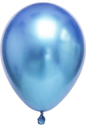 Balonevi Mavi Parlak Krom Balon 16 Inch 50 Adet