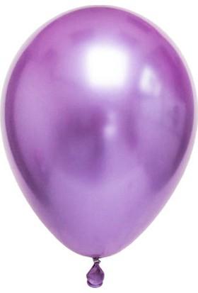 Balonevi Mor Parlak Krom Balon 16 Inch 25 Adet