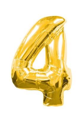 Acar Süs 4 Rakamı Altın Folyo Balon 40 Inch 90 cm