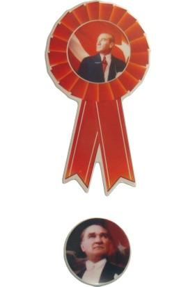 Moniev Atatürk Rozet Sticker Okul Sticker Etiket Stiker 3 Adet