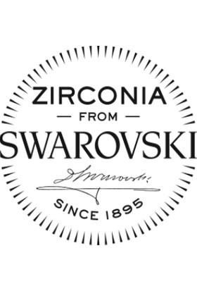 Mia Vento Swarovski Zirconia Taşlı 0.20 Kalp Tırnaklı Tektaş Gümüş Küpe