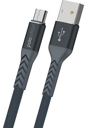 Polosmart PSM21 Micro USB Hızlı Şarj Kablosu 1.2m Siyah