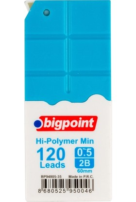 Bigpoint Kalem Ucu 0.5mm 2B 120'li Tüp Mavi 12'li Kutu