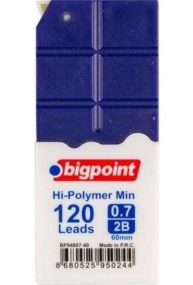 Bigpoint Kalem Ucu 0.7mm 2B 120'li Tüp Koyu Mavi 12'li Kutu