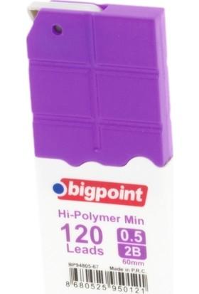 Bigpoint Kalem Ucu 0.7mm 2B 120'li Tüp Mor 12'li Kutu