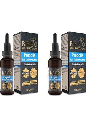 Bee'O Propolis Özütü Suda Çözünür ekstrakt 20 ml x 2'li
