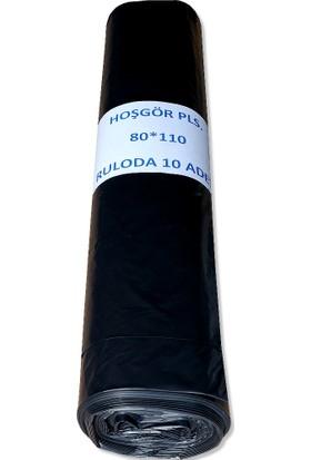 Hoşgör Plastik 80 x 110 cm Jumbo Rulo Çöp Poşeti Torbası Rulo 400 gr 3 Rulo