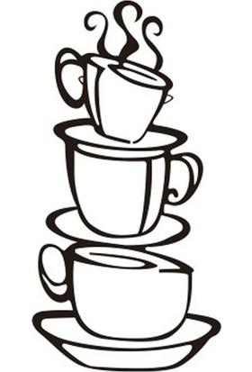 Dez Kahve Fincan Duvar Dekoru Sticker