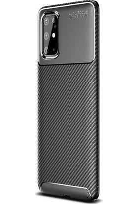 Teleplus Samsung Galaxy S20 Ultra Kılıf Negro Karbon Silikon Siyah