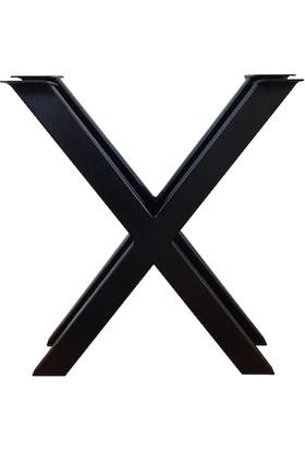 Abronya x Masa Ayağı Kütük Bahçe Mobilya Ayakları Metal Ağaç Masa Ayak