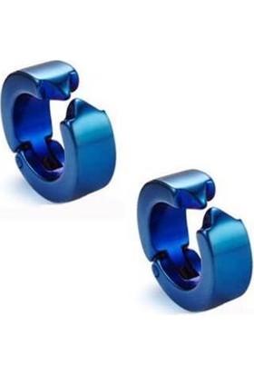 Takı Dükkanı Sıkıştırmalı Erkek Çelik Küpe Kalın 6 mm Deliksiz Kulaklara Mse2