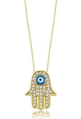 Fashion Jewelry Zirkon Kadın Fatma'nın Eli Kolye