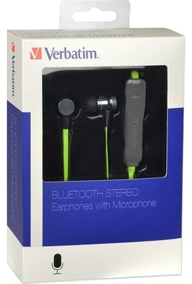 Verbatim Bluetooth Mikrofonlu Kulakiçi Miknatıslı Spor Kulaklık Gri-Yeşil