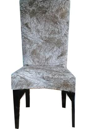 Bella Home Sandalye Kılıfı Kadife Kırçıllı Bej
