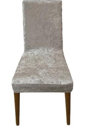 Bella Home Sandalye Kılıfı Kadife Vizon