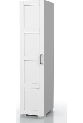 Dekorex BNY111BEYAZ Boy Kapaklı Yüksek Banyo Dolabı