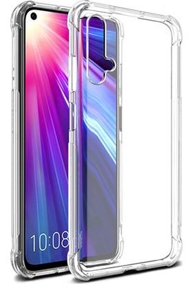 Ally Huawei Nova 5T-Honor20-20S Anti-Drop Darbe Emici Silikon Kılıf AL-31742 Şeffaf