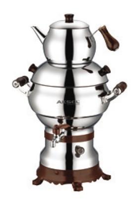 Aksel AK0312 Güveç Porselen Kulplu 4,5 L Elektrikli Çay Semaveri