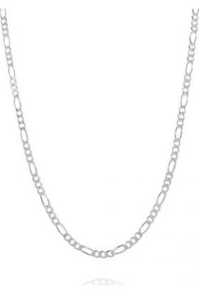 Enes Store 925 Ayar Erkek Gümüş Zincir Figaro Model 3 mm 60 cm
