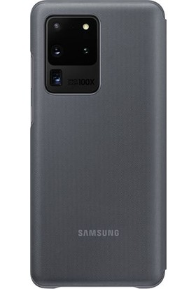 Samsung Galaxy S20 Ultra LED View Kılıf Gri EF-NG988PJEGTR