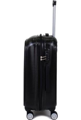 EHS Siyah 3'lü Set Valiz 4 Tekerlekli EHS 5159