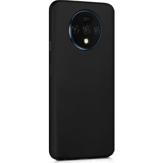 Microsonic Matte Silicone OnePlus 7T Kılıf Siyah