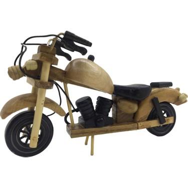 corlace concept dekoratif el yapimi ahsap motosiklet