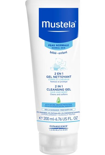 Mustela 2 İn 1 Cleansing Gel Hair & Body Wash 200 Ml - Saç Ve Vücut Şampuanı (200 Ml) /
