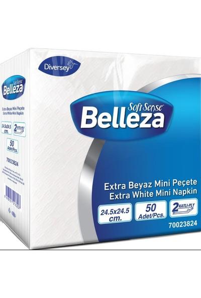 Belleza Extra Beyaz Mini Peçete 24.5X24.5 cm 50'li 24'lü