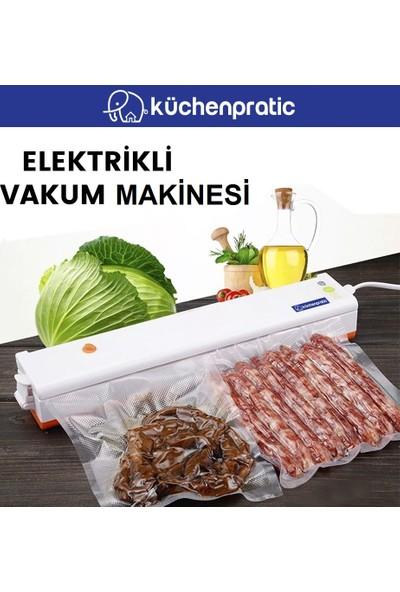 Küchen Pratic Ev Tipi Elektrikli Gıda Vakum Makinesi - Turuncu + 10 Poşet
