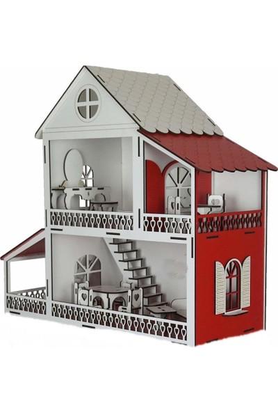 Woody Life Ahşap Oyuncak Ev Niloya Bebekli Ev - Lol Barbie Uyumlu 2 Katlı Oyun Evi