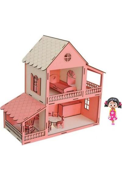 Woody Life Ahşap Oyuncak Ev Niloya Bebekli Ev - Lol Barbie Uyumlu 2 Katlı