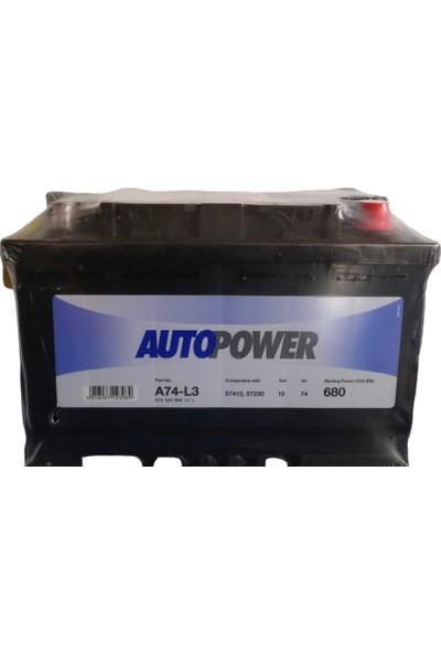 Autopower A74-L3 12V 74 Ah 680A (En) Akü