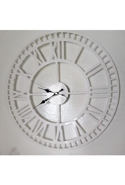 Perim Decor 80 cm Roma Rakamlı Beyaz Duvar Saati