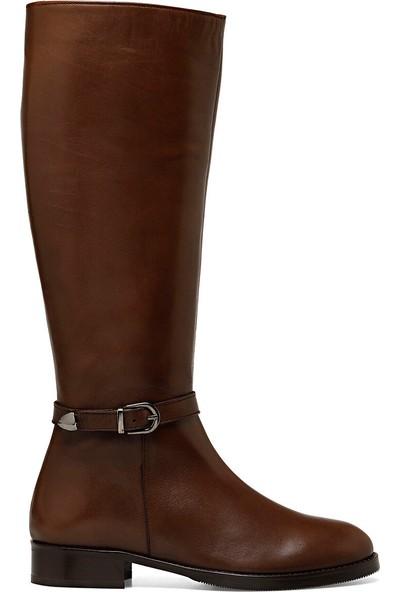 Nine West Naco Kahverengi Kadın Düz Çizme