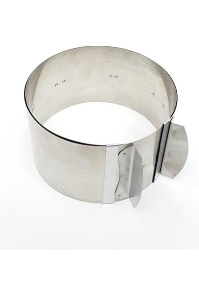 Karadağ Yuvarlak ve Kare Ayarlı Pasta - Kek Kalıbı 2'li Set - Metal Pasta Kazıyıcı 10 cm