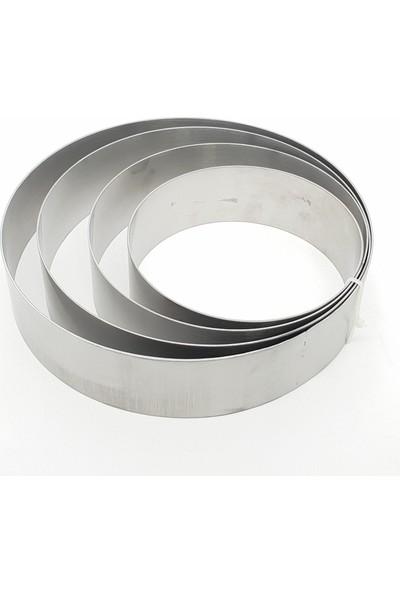 Karadağ Yuvarlak Çember 4'lü Pasta - Kek Kalıbı - Metal Pasta Kazıyıcı 10 cm