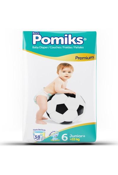 Pomiks Junior Plus Bebek Bezi 6 Numara 15+ kg 38'li