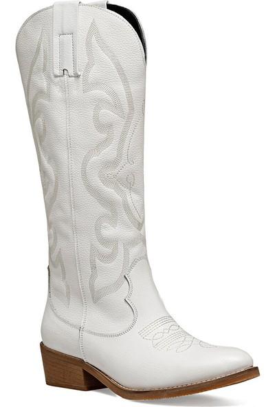 Nine West Westı Beyaz Kadın Çizme
