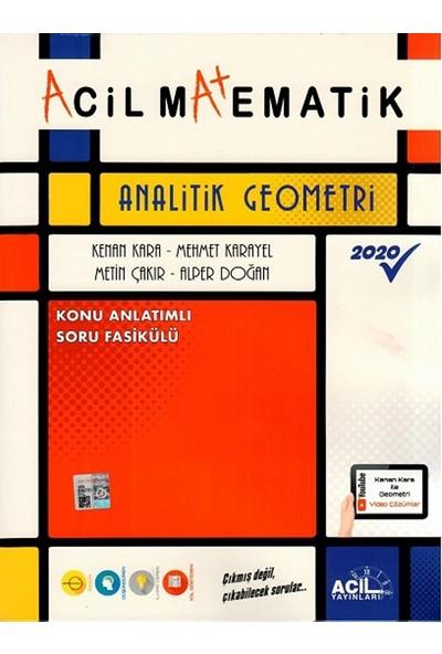 Acil Yayınları Acil Matematik Analitik Geometri - Kenan Kara