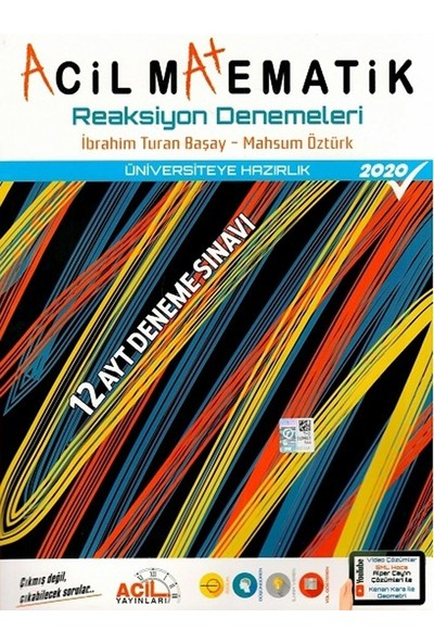 Acil Yayınları AYT Acil Matematik Reaksiyon 12 li Denemeleri - İbrahim Turan Başay