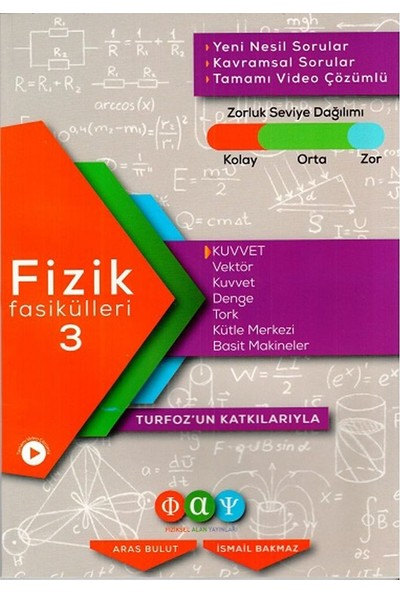 Fiziksel Alan Yayınları Fizik Fasikülleri 3 Kuvvet - Aras Bulut