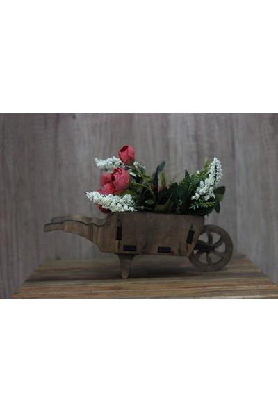 Hk Dekor El Arabası Çiçeklik