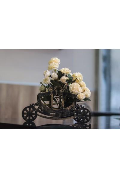 Hk Dekor Balkabağı Arabası Çiçeklik