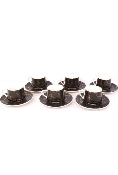 Paçi Mermer Desenli 6 Kişilik Kahve Fincan Takım